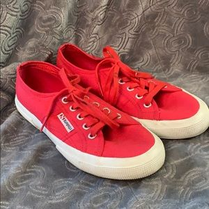 Superga cotu Classic Red canvas sneakers flats